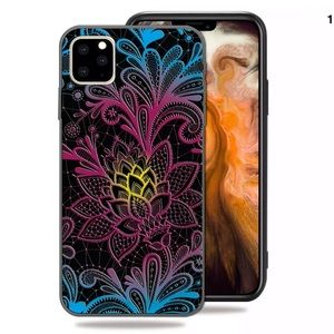 iPhone 11 Flower painted protective soft casecover